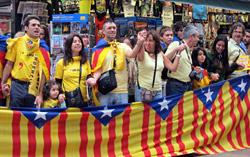 Katalonian tiellä Barcelonassa